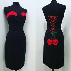 1e2e54c33d TiCci Rockabilly clothing pinup pencil dress skullcherry dress halloween  dress rockabilly fashion pinup cloth