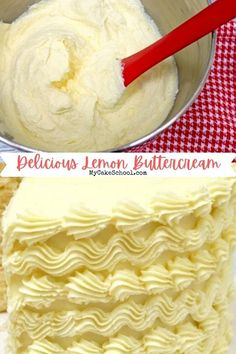 Lemon Buttercream Frosting, Frosting Recipes, Icing, Mini Cakes, Cupcake Cakes, Cup Cakes, Cheesecake Recipes, Dessert Recipes, Flavored Butter