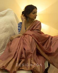 Absolute Graceful Silk Sarees Designs Are Here! Designer Kurtis, Designer Silk Sarees, Designer Wear, Salwar Designs, Tussar Silk Saree, Pure Silk Sarees, Latest Silk Sarees, Saree Sale, Bengali Saree
