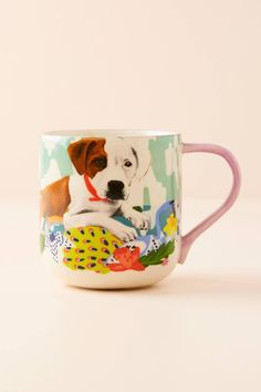 Jay McClellan Studio Bone Appetit Mug by in Green, Mugs at Anthropologie Creative Christmas Gifts, Easy Diy Christmas Gifts, Christmas Gifts For Friends, Christmas Gift Guide, Mug Design, Anthropologie Home, Faux Fur Throw, Graphic Patterns, Best Friend Gifts