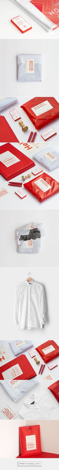 P/T/H . MMXIV F/W Collection - Clothing Label. Red and white brand ID / packaging