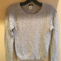 J Crew Cable knit Classic Sweater Cable knit. 40%merino wool, 20%angora,  10% cashmere J Crew Sweaters Crew & Scoop Necks