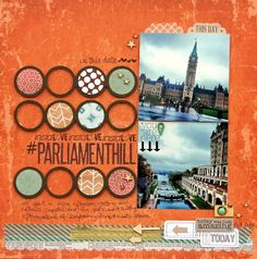 Clever use of circle shapes in this scrapbooking layout Nicole Nowosad