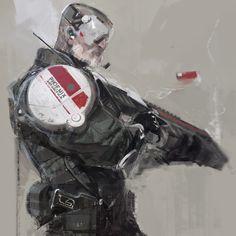By Ihor Pasternak Alien Character, Character Concept, Character Art, Character Design, Robot Concept Art, Character Sketches, Cyberpunk Art, Science Fiction Art, Cultura Pop