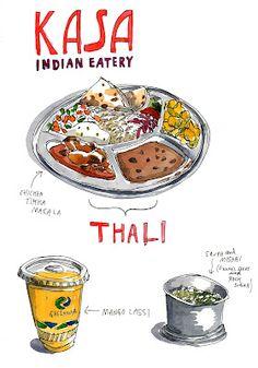 kasa food illustration