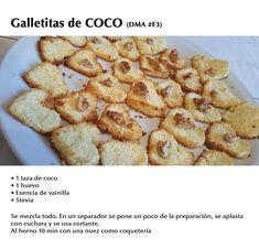 Galletitas de Coco DMA (#F3) Sin Gluten, Baby Food Recipes, Scones, Healthy Snacks, French Toast, Food And Drink, Low Carb, Vegan, Cooking