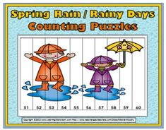 Spring Counting Puzzles