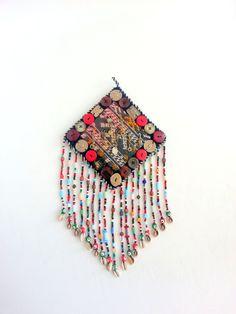 Amulet vintage Uzbek for wallhaning Home decor by lesartsturcs, $49.00 Turkish Decor, Dream Catcher, Felt, Wall Decor, Ornaments, Boho, Unique Jewelry, Handmade Gifts, Crafts
