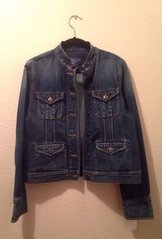 Ladies Chaps Dark Wash Denim Jeans Jacket, Sz M, New W/Tags #Chaps #JeanJacket