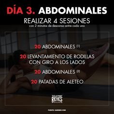 Día 3. Abdominales. #RetoDelBoxeador #Box #Boxing #CletoReyes #workout #training