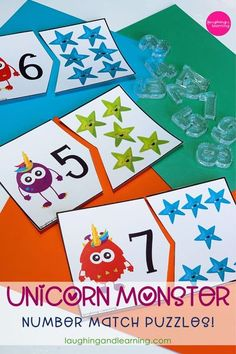 Match these Unicorn Monsters to their corresponding stars! #printableactivities #preschoolactivities #mathactivities #preschoolmath #printablepuzzles #printablemathactivities #education #literacyactivities #alphabet #printableliteracyactivities