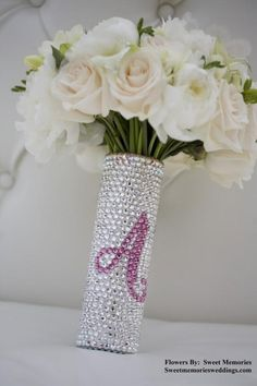 Bling Bling ~ Wedding Trend - perfect to hold the flowers at the reception