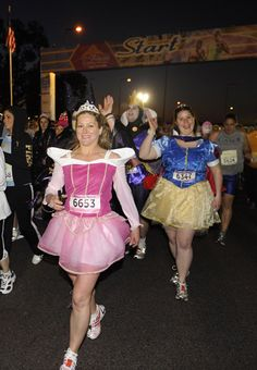 Disney Princess Half-Marathon - You dress like a princess and meet all of the characters while running around Disney World. Obsessed! New goal for February 2014!
