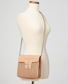 Ann Taylor - AT View All - Perforated Leather Mini Bag