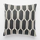 Honeycomb Crewel Pillow Cover – Slate