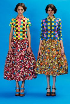 Marc Jacobs Resort 2013 Fashion Show - Magda Laguinge and Melissa Stasiuk