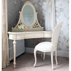 Parisian Shabby Chic Cream Dressing Table From The French Bedroom Company