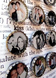 Fotomagnete - aus Kronkorken- Hochzeit