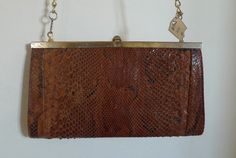 Snake leather vintage purse by thecoifs on Etsy