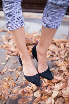 """Bestselling black suede d""""Orsay mid heel pumps"""