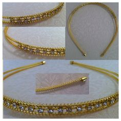 Gold wire/metal headband with rhinestone 'bling' - AUD$6.95 + postage or local pick up available.