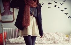 for autumn. I'm not sure if I like the outfit or David Bowie in the background better. Cute Teen Outfits, Outfits For Teens, Winter Outfits, Winter Clothes, Tumblr Fashion, Teen Fashion, Indie Fashion, Fashion Clothes, Cream Lace Skirt