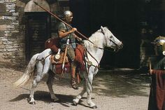 First century Roman rider with a lance.
