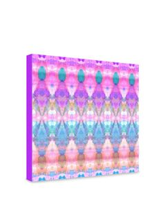 Amy Sia Tribal Diamonds Pastel Pink Gallery Wrapped Canvas by DENY Designs on Gilt.com