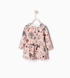 Image 1 of Raised flowers dress from Zara