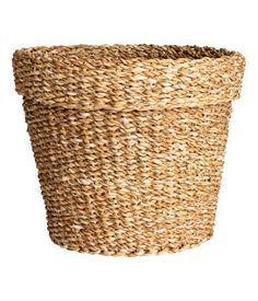 Natural. Large storage basket in thick, braided seagrass. Height 10 in., diameter 12 1/4 in. | $17.00