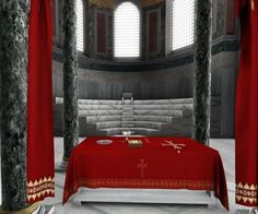 Situated in the apse of Hagia Sophia, the altar which indicates the qibla was used by imams who lead the prayers. This semicircular niche is ornamente. Hagia Sophia, Altar, Canopy, Cathedral, Crusaders, Romans, Candlesticks, Quran