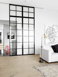 Sliding Doors To Separate Kitchen From Living Room Decor Design, House, Home, Glass Decor, Glass Door, Sliding Door Design, Home Decor, Home Design Plans, Room