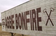 Fightin Texas Aggie Bonfire Trailer.