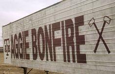 Fightin Texas Aggie Bonfire Trailer.
