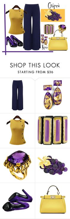 """Grapes"" by kimmie-plus2 on Polyvore featuring Mat, Sergio Rossi and Fendi"