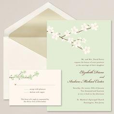 Budding Blossoms Wedding Invitation | #exclusivelyweddings
