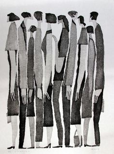 Black and white prints by Tetsuo Aoki
