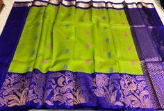 Latest kuppadam pattu sarees with images South Indian Silk Saree, Kuppadam Pattu Sarees, Siri, Designers, Summer Dresses, Shopping, Fashion, Moda, Summer Sundresses