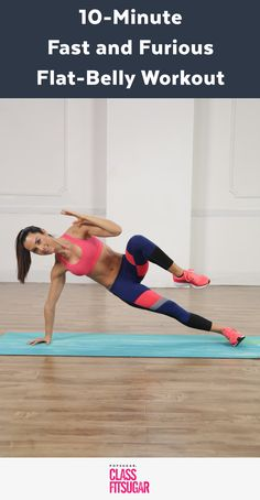 Fast and Furious Flat-Belly Workout schnelles und wütendes Flat-Belly-Training Abs Workout Video, Flat Belly Workout, Abs Workout Routines, Ab Workout At Home, Abs Workout For Women, Workout For Beginners, At Home Workouts, Tummy Workout, Fat Workout