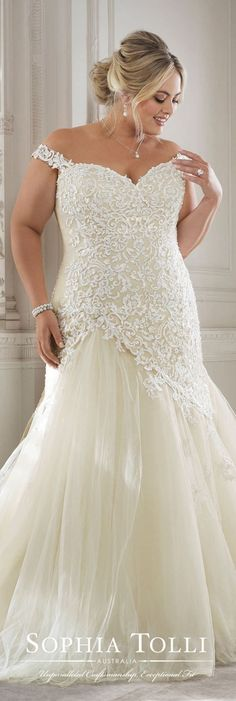Plus Size Wedding Dress by Sophia Tolli #weddingdresses