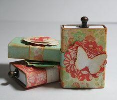 Des éclats de créativité: Semaine de Dollar Store Crafts - Boites d'allumettes