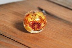 One Round Flower Resin ring. by ResinRings on Etsy