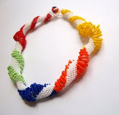 Dutch Sprial Necklace with Seed Bead by Rosestyle on Etsy, $25.00