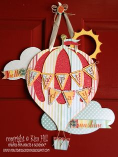 CTMH Artiste CRICUT cartridge Hot Air Balloon - Violets & Sunshine