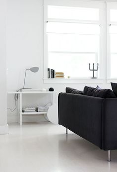 Scandinavian living room. IKEA TRENDIG side table hack. from AMM
