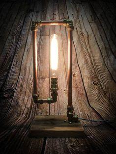 Lámpara de tubo de cobre industrial