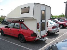 Kombi Motorhome, Truck Camper, Camper Trailers, Camper Van, Car Tent, Classic Campers, Mid Size Car, Rv Homes, Ford Sierra