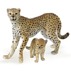Cheetah with Cub Papo figurine   Worldwide Shipping www.minizoo.com.au
