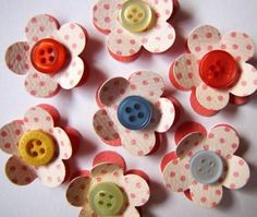 DIY Scrapbooking Embellishments with Buttons « Enhanced with Stamps