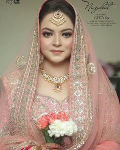 Gold Jewelry In Italy Bridal Suits Punjabi, Pakistani Wedding Outfits, Indian Bridal Lehenga, Indian Bridal Makeup, Indian Bridal Fashion, Indian Bridal Wear, Bridal Outfits, Indian Wear, Asian Fashion
